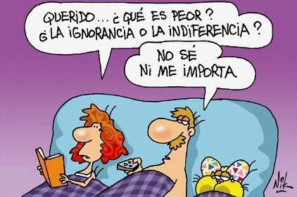 ¿En España prima la ignorancia o la indiferencia?