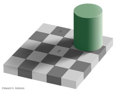 ¿Son las casillas A y B de diferente color?