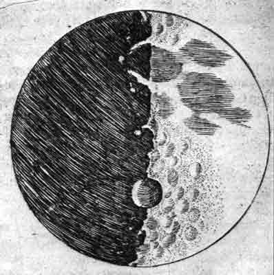 La luna vista por Galileo