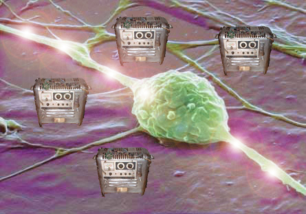 Neurona rodeada por Máquinas de Von Neumann