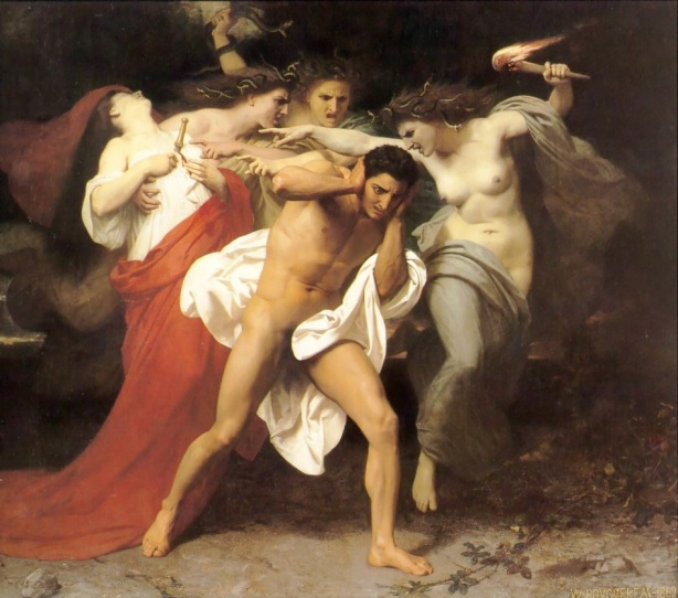 El remordimiento de Orestes de William-Adolphe Bouguereau