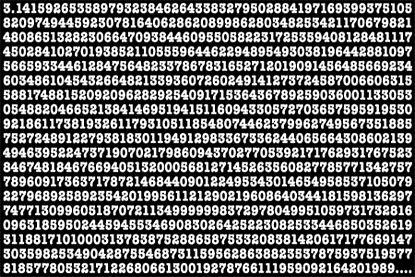 ¿Cuántos decimales de pi eres capaz de memorizar?