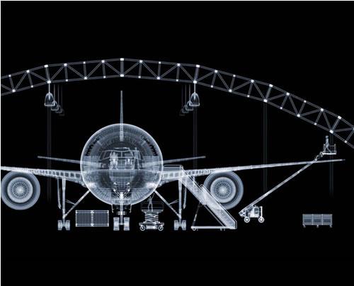 Avión de pasajeros según Nick Veasey